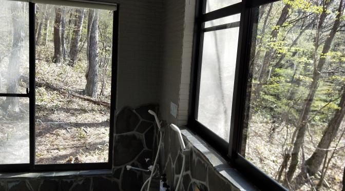 窓からの芸術!ログハウス那須ハイグランド