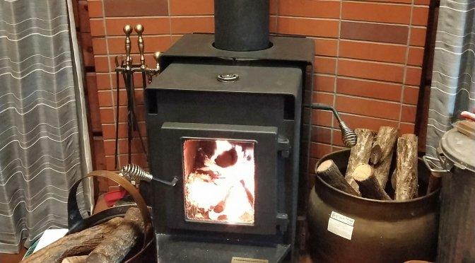 富士山初冠雪&雪化粧と薪ストーブ!